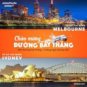 Jetstar mở chặng bay thẳng từ Hồ Chí Minh đi Úc